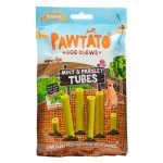 Pawtato Vegan Dog Chews - Mint and Parsley Tubes