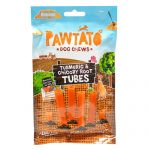 Pawtato Vegan Dog Chews - Turmeric and Chicory Root Tubes