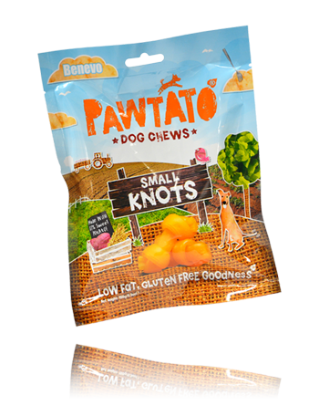 Pawtato knots - the original rawhide knot alternative